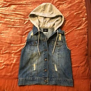 BDG Urban Outfitters Distressed Denim Vest